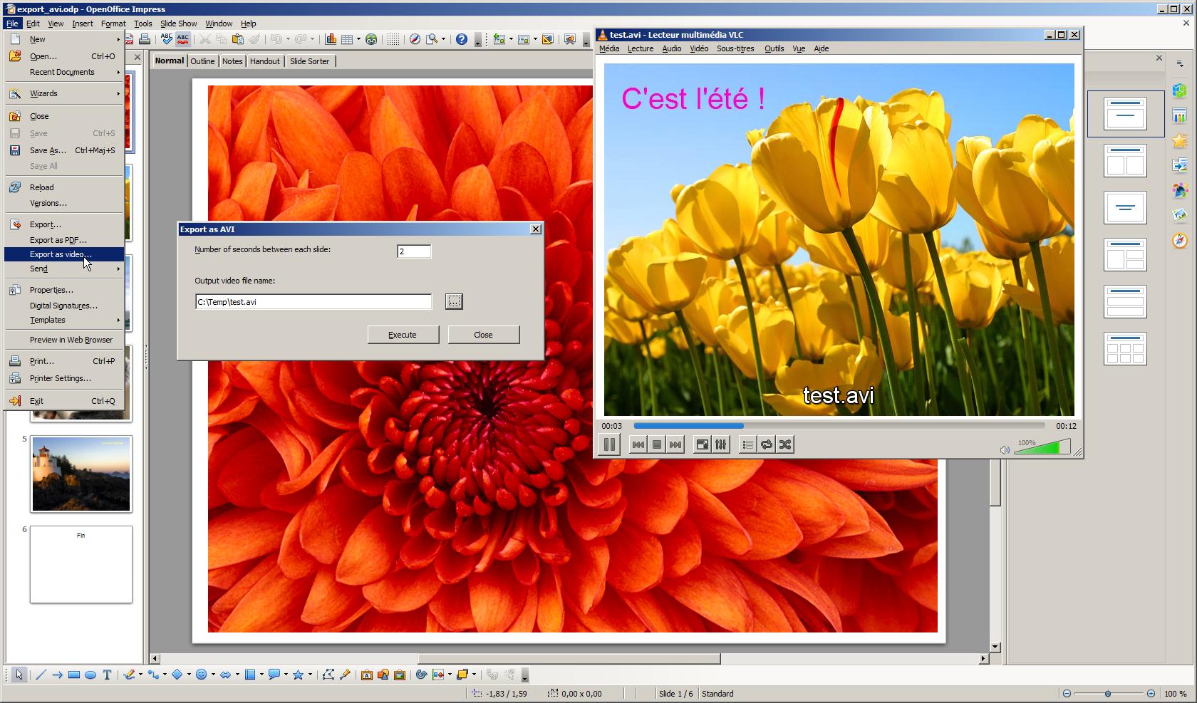 Impress video converter | Apache OpenOffice Extensions